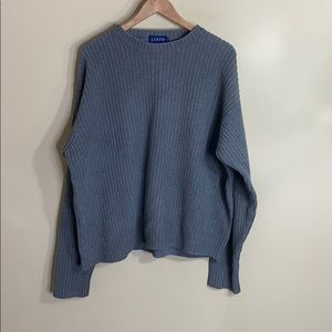 J crew grey crew neck sweater